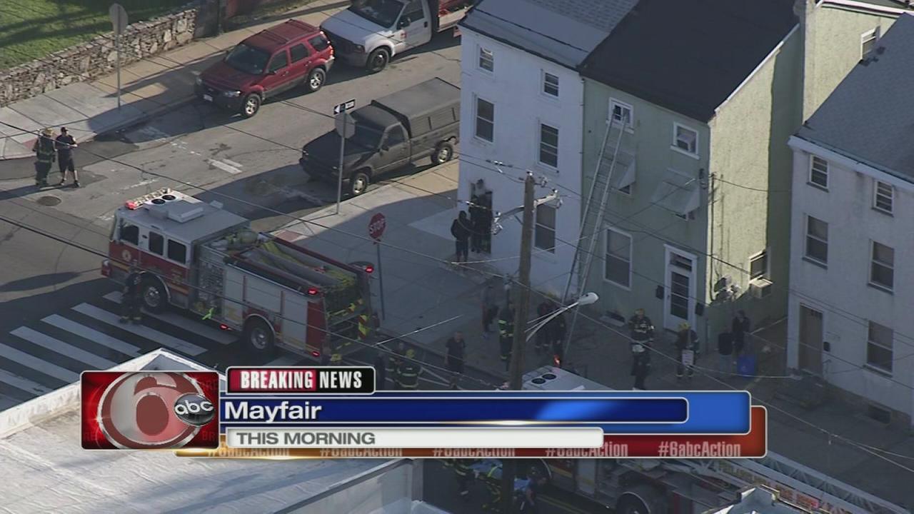 Woman hurt in Mayfair fire