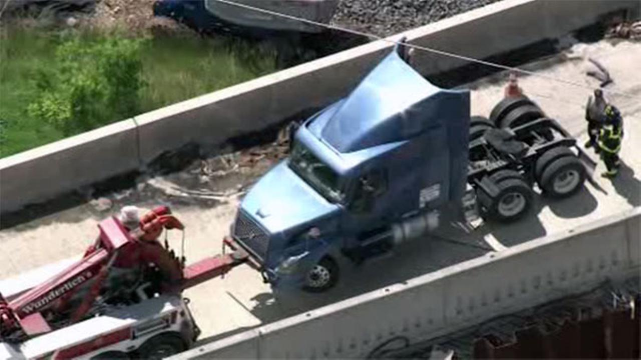 Truck crashes on Route 422 in Lower Pottsgrove, Pa.