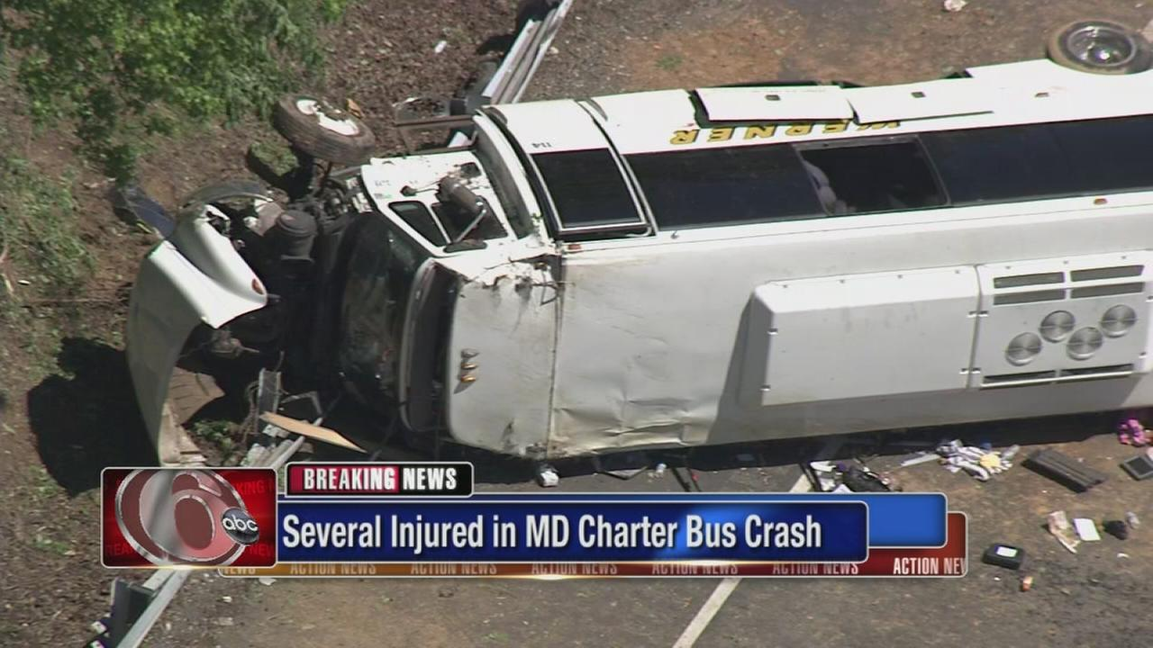 Philly students on tour bus that crashed in Md.; 25 hurt