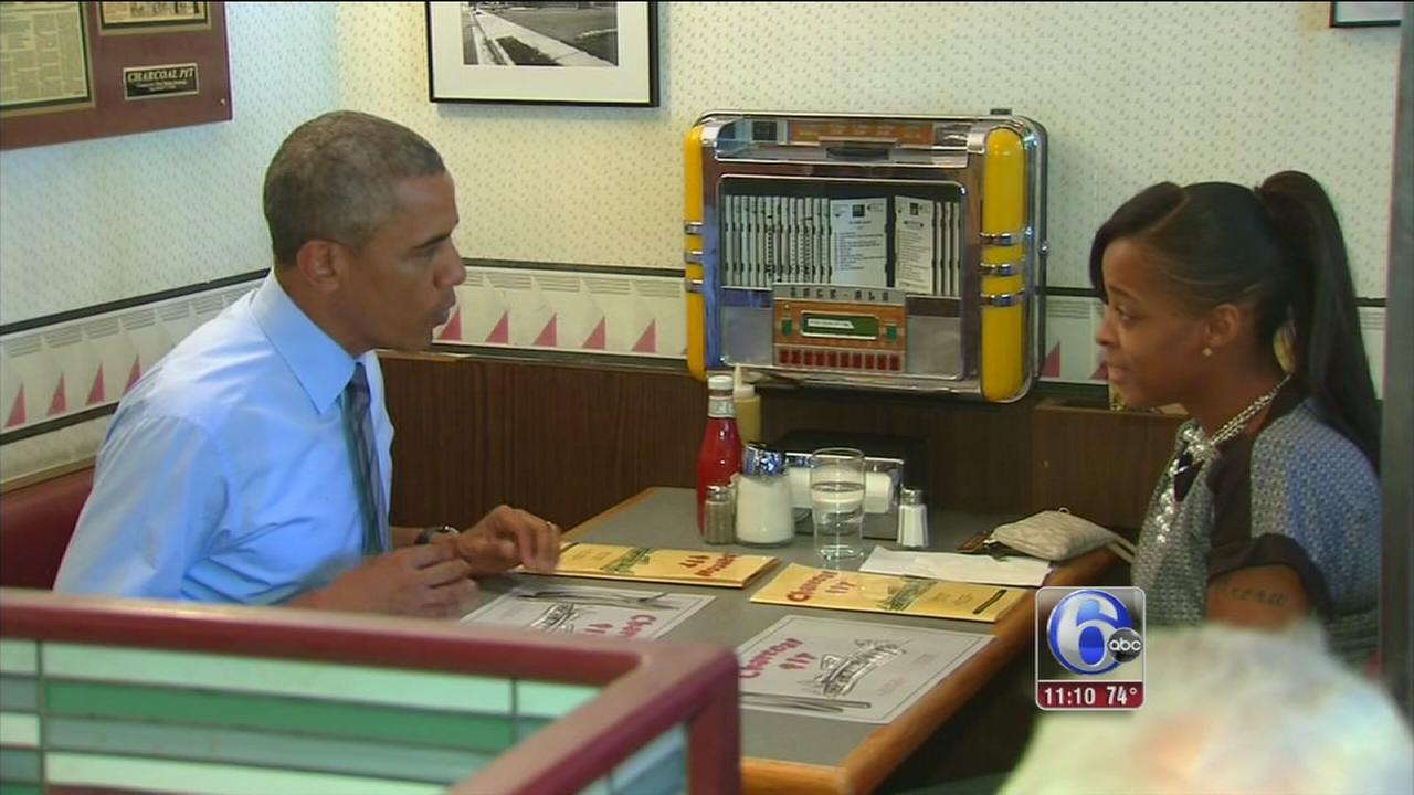 VIDEO: Delaware woman has lunch with President Obama