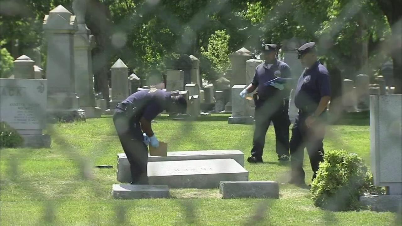 Police: Tombstones knocked over at Phila. Jewish cemetery