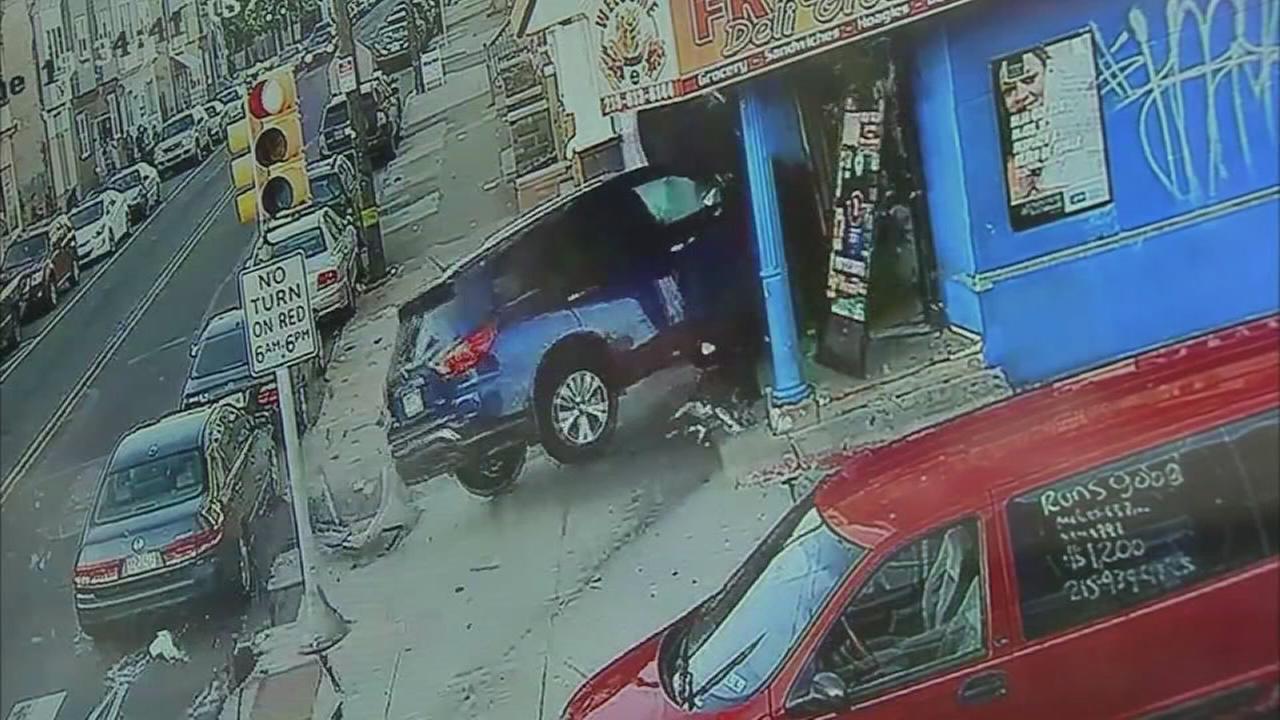 RAW VIDEO: SUV slams into corner store in Port Richmond