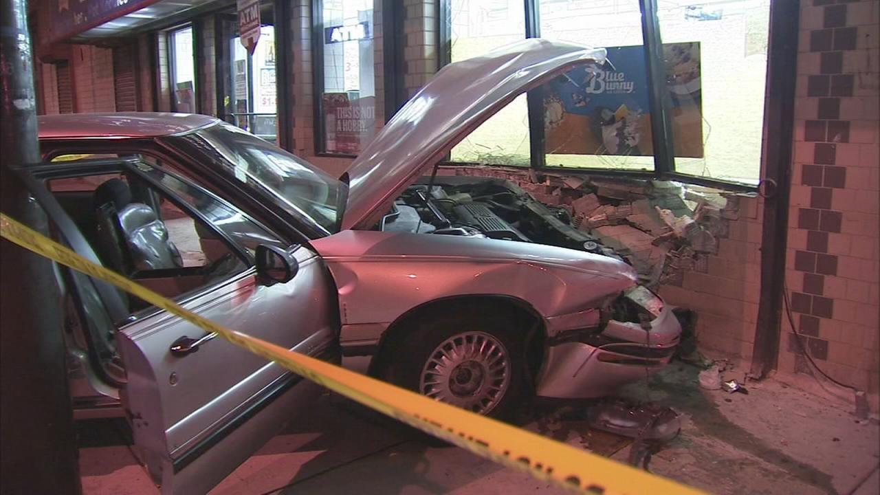 Driver slams vehicle into deli in North Philadelphia