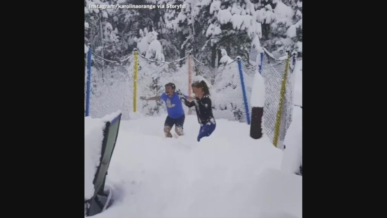 VIDEO: Colorade residents make the best of the snowy weather