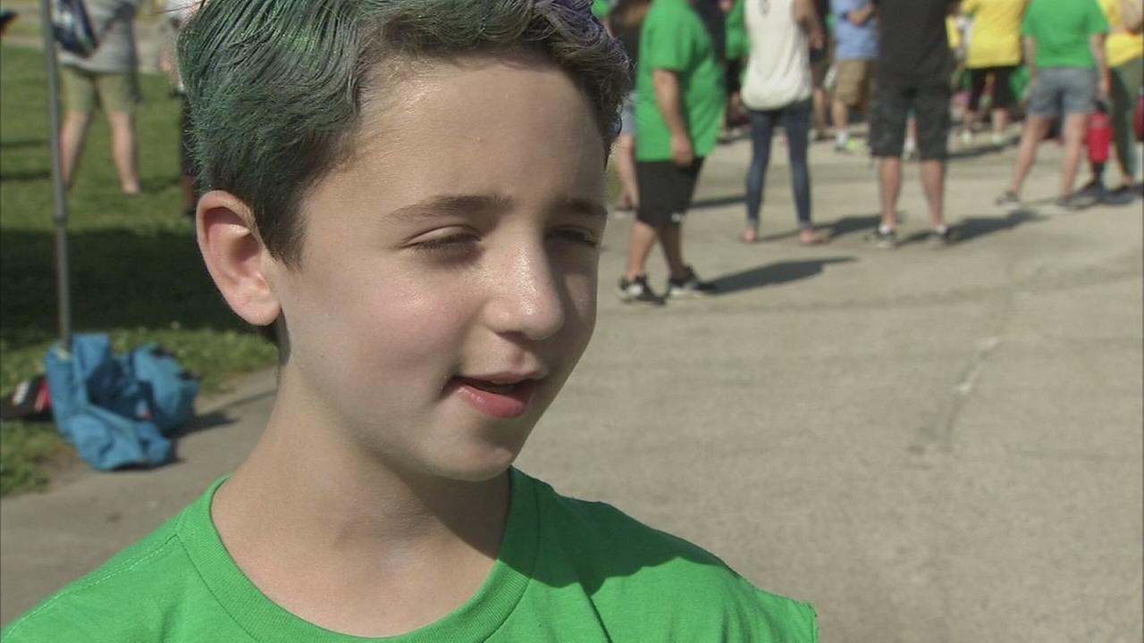 Boy, 10, celebrates anniversary of being stroke free