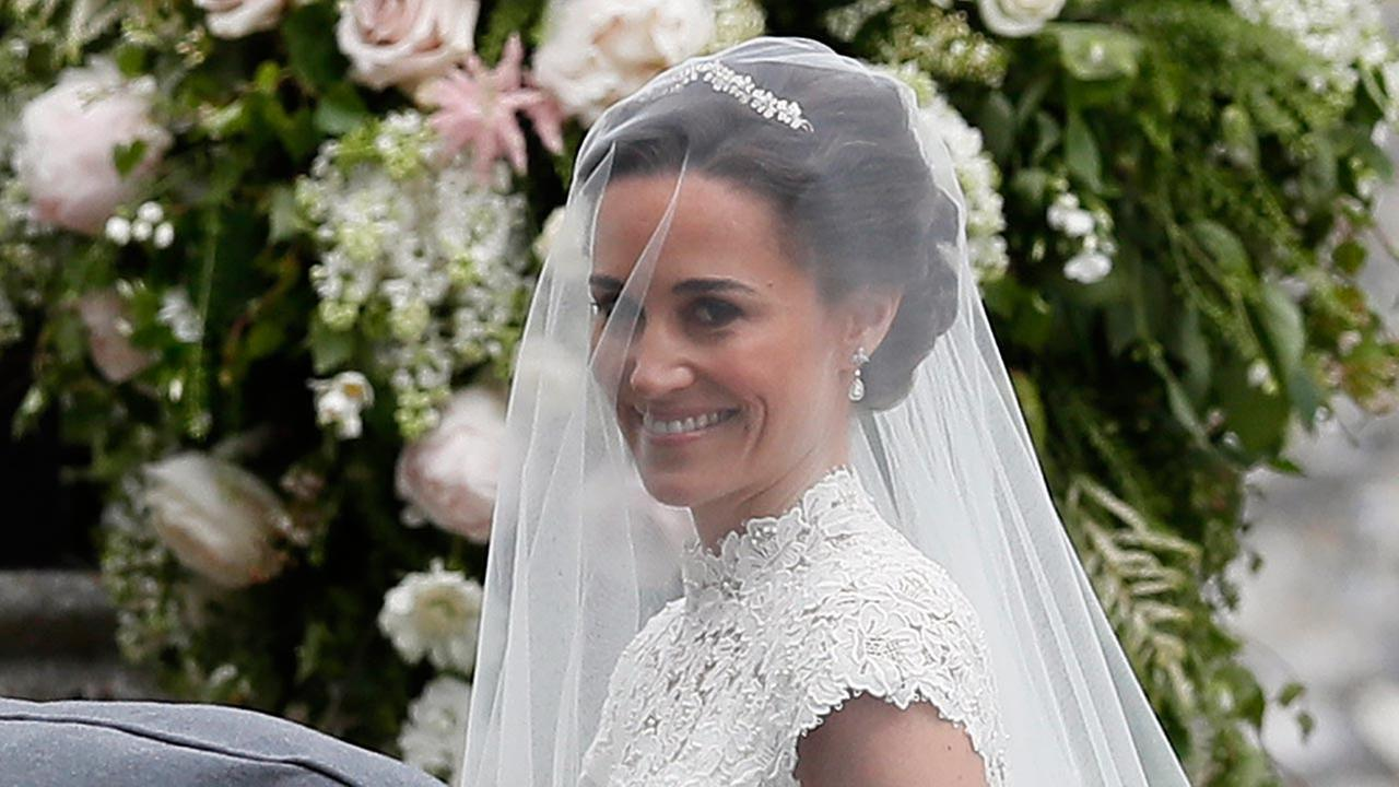 Pippa Middleton arrives for her wedding to James Matthews, Saturday, May 20, 2017.