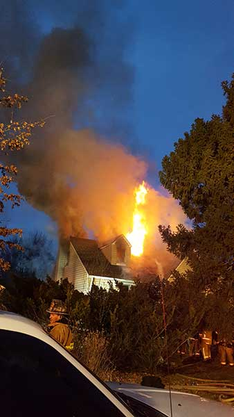 <div class='meta'><div class='origin-logo' data-origin='none'></div><span class='caption-text' data-credit=''>January 31, 2017: The fire erupted at 5:30 a.m. in the 2200 block of Byberry Road, in the same neighborhood surrounding the Bensalem first responders? headquarters.</span></div>