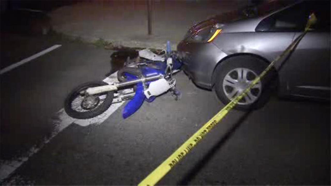 1 injured when truck, motorcycle collide in W. Phila.