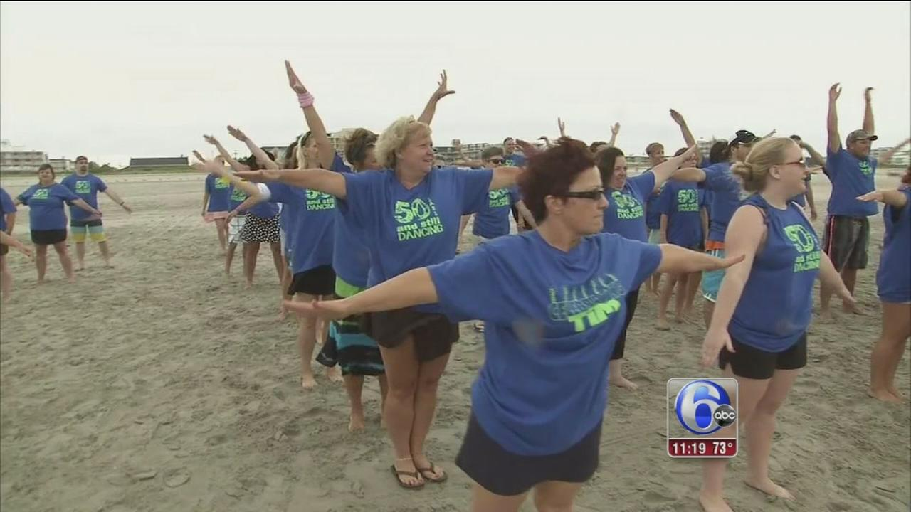 VIDEO: Philly man gets flash mob for 50th birthday