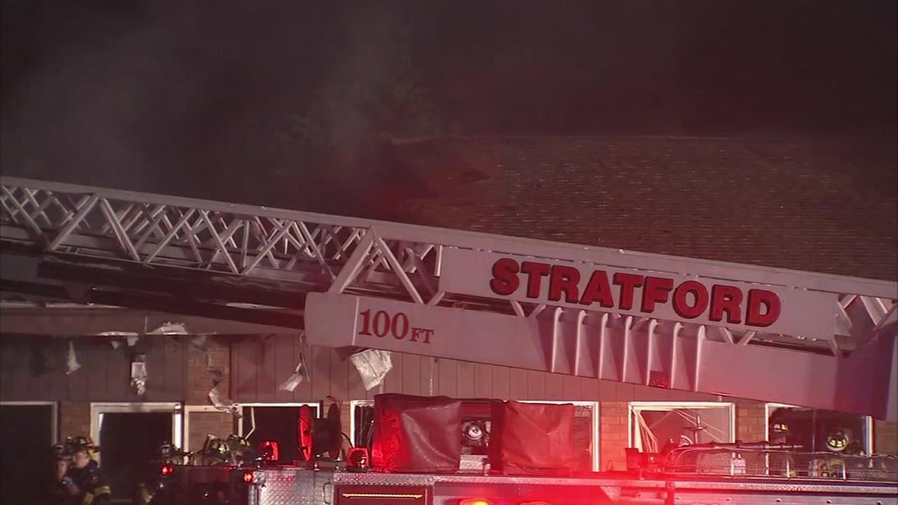 Strip mall fire in Stratford, NJ