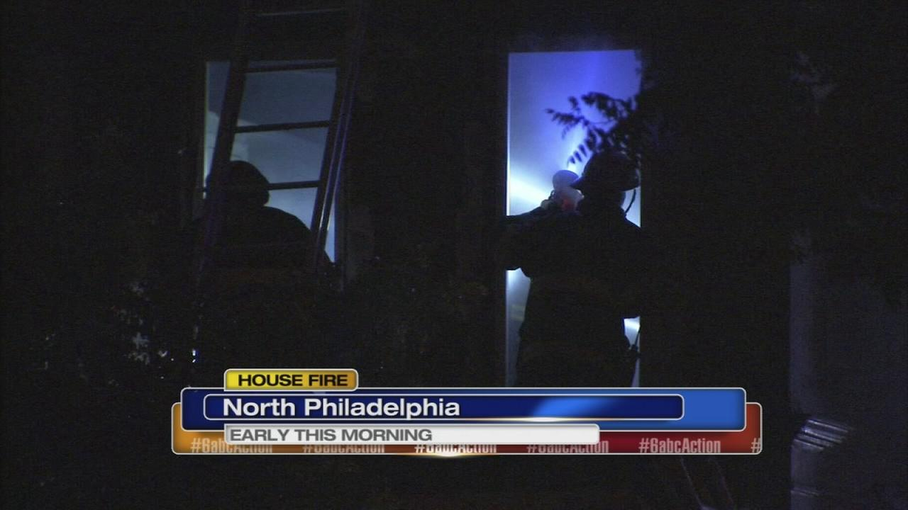 Fire damages home in N. Philly