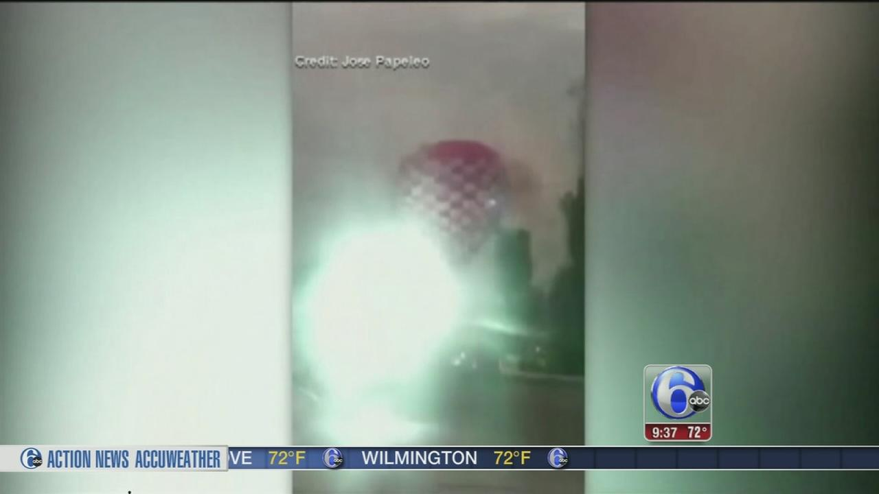 VIDEO: 5 hurt in hot air balloon crash