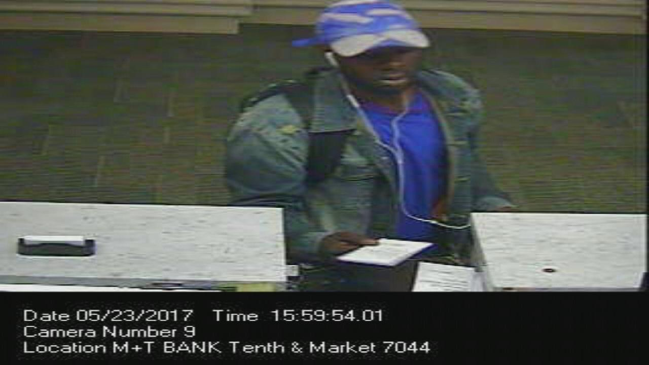 Suspect sought in Wilmington bank robbery