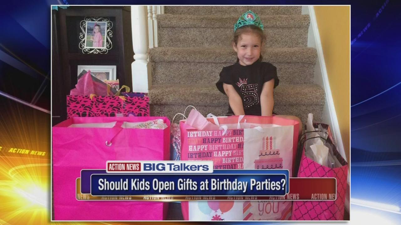 Should kids open gifts at birthday parties?