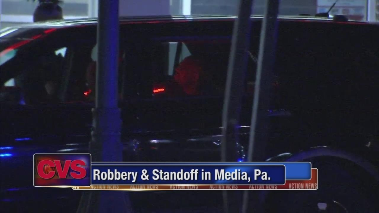 Robbery, standoff at Delco CVS