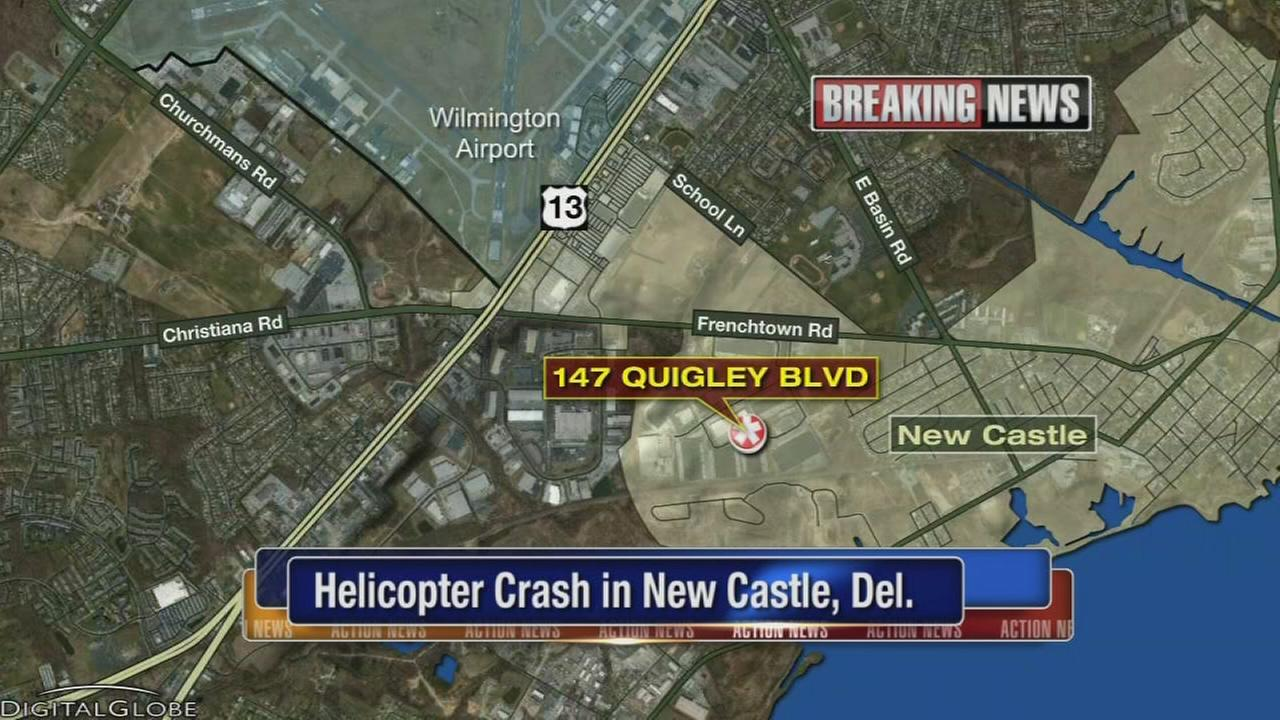 Helicopter crash in New Castle, Del.
