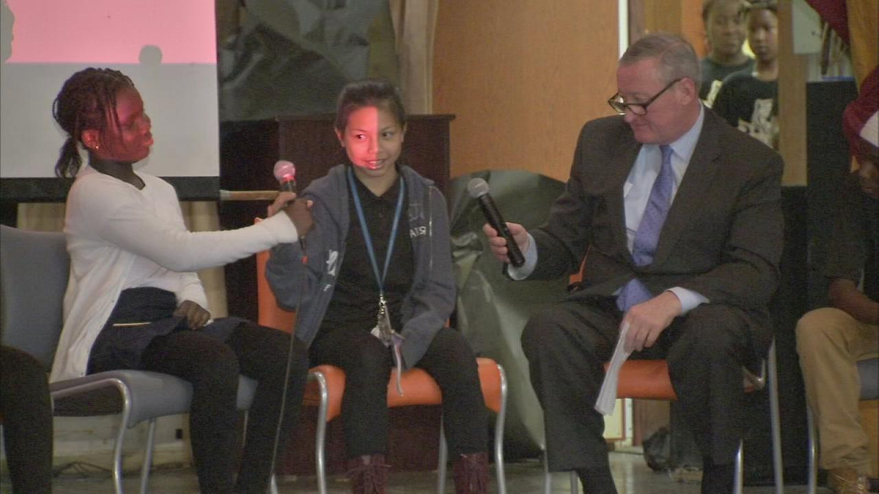 Mayor Kenney makes middle school visit
