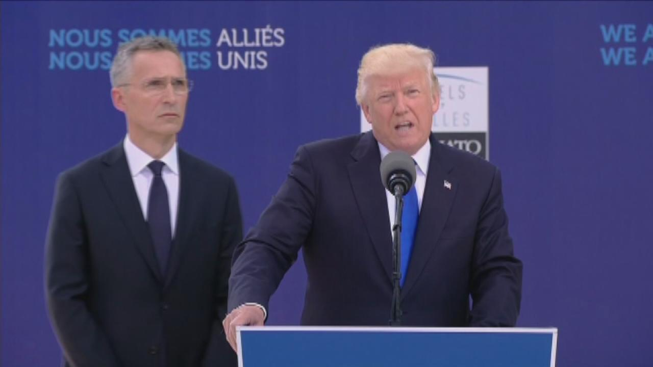 Trump vows to crackdown on leaks, chastises NATO