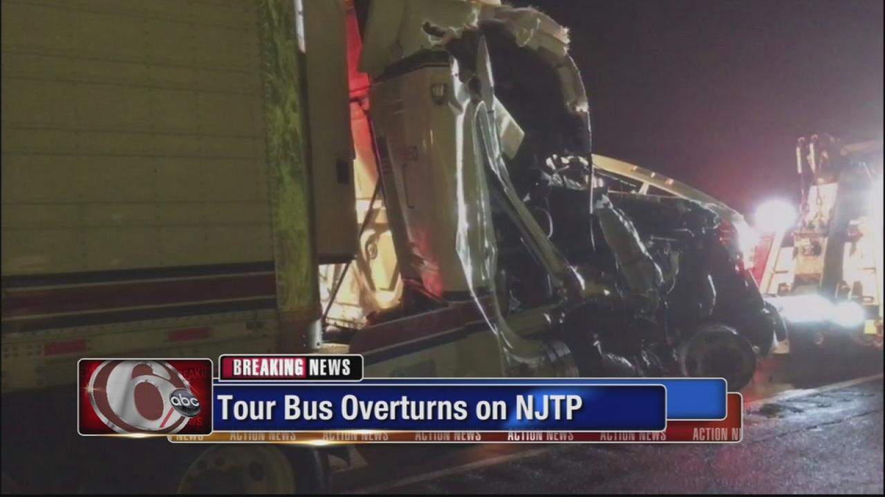 Tour bus crash on NJ Turnpike