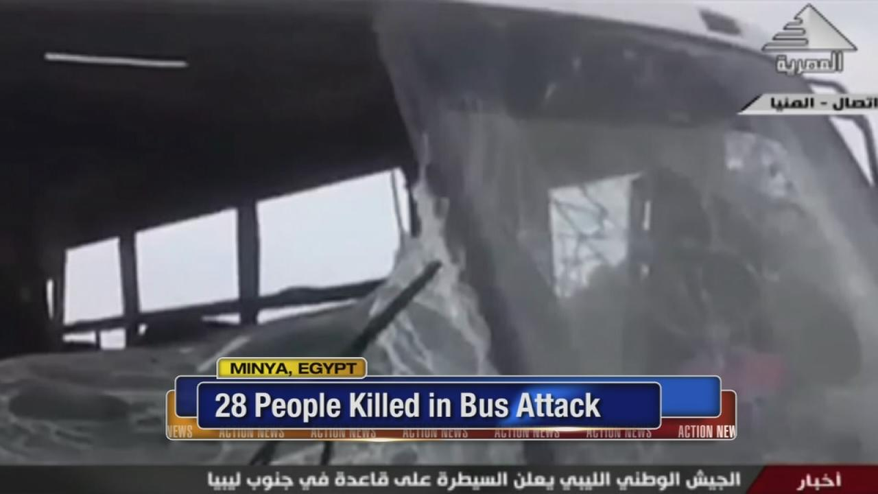 28 dead in Egypt bus attack