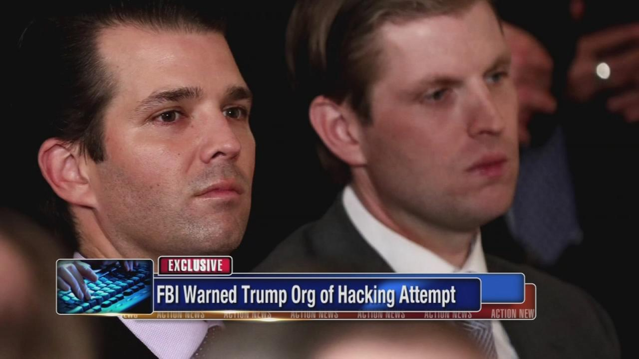 FBI warned Trump org of hacking attempt