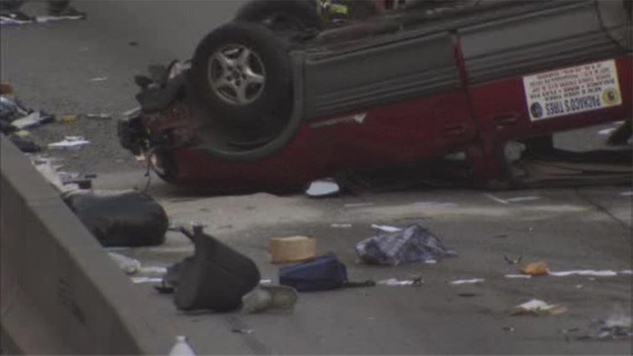 Man injured in crash on Roosevelt Boulevard in East Falls