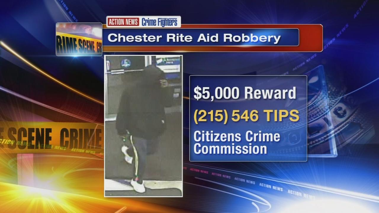 Suspect sought in Rite Aid robbery in Delco
