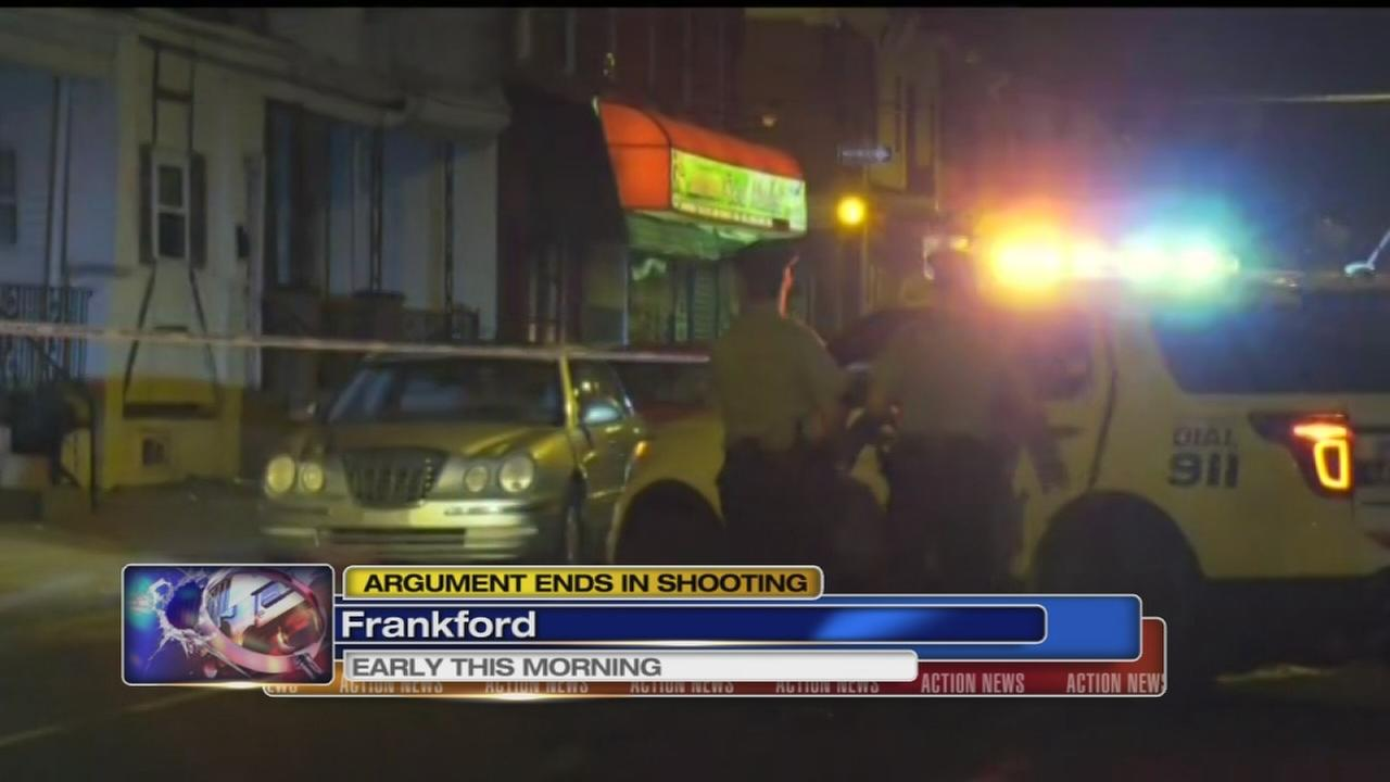 Argument ends in shooting in Frankford
