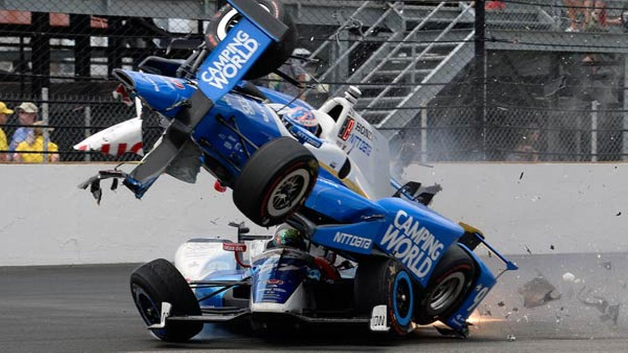 VIDEO: Scary crash at Indy 500, Scott Dixon out of race | 6abc.com