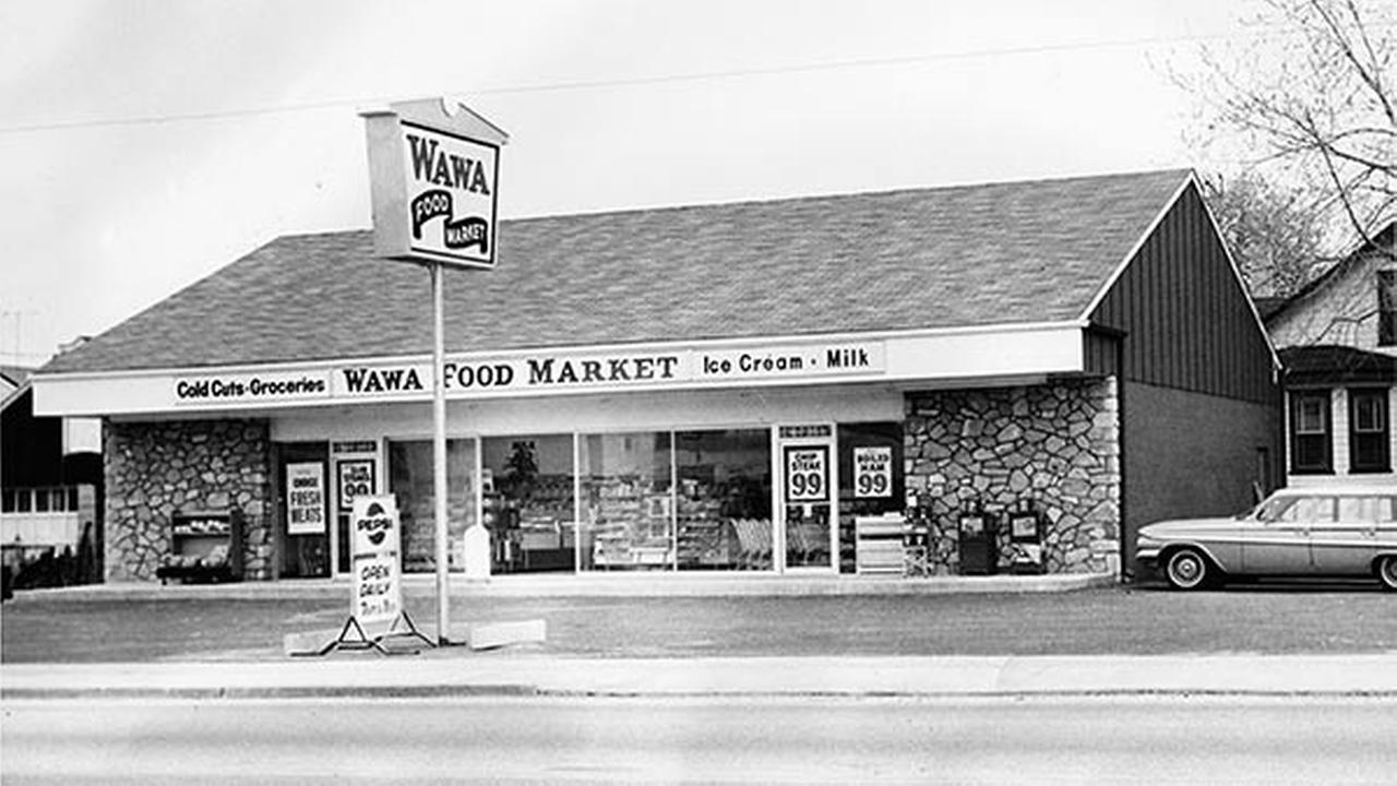 Shown in an April 1964 file photo is the first Wawa store, which opened April 16, 1964 in Folsom, Pa.