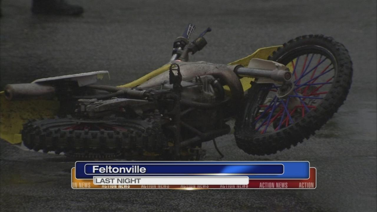 Man hurt after being thrown off dirt bike in Feltonville