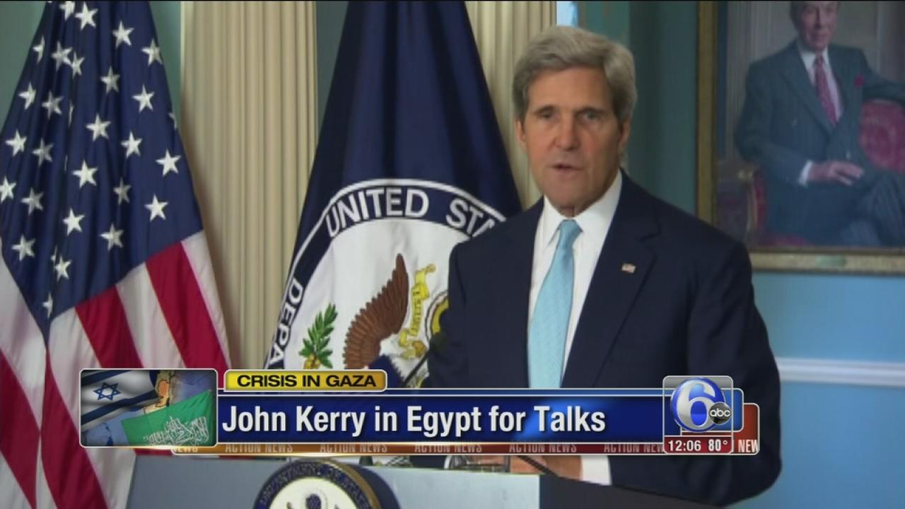 VIDEO: Kerry returns to Mideast to push for cease-fire