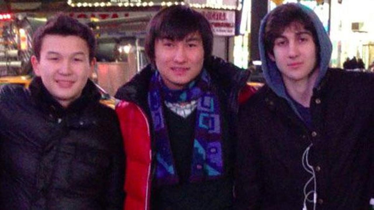 This undated photo shows, from left, Azamat Tazhayakov and Dias Kadyrbayev, from Kazakhstan, with Boston Marathon bombing suspect Dzhokhar Tsarnaev.