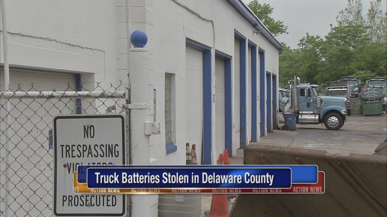 Truck batteries stole in Delaware County