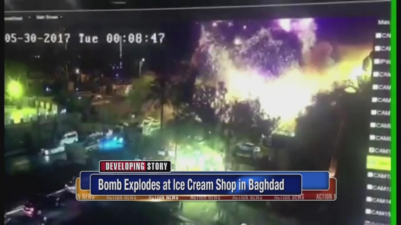 Bomb explodes at ice cream shop in Baghdad