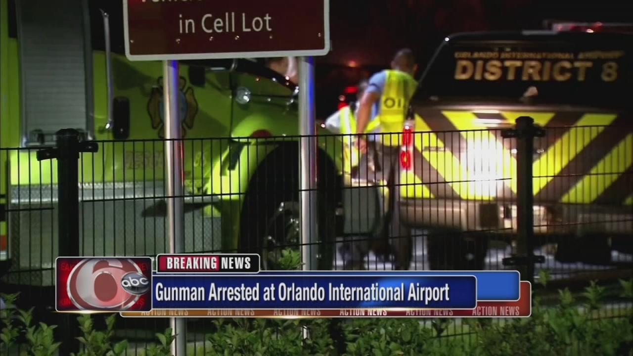 Police: Armed man in custody at Orlando airport; no one hurt