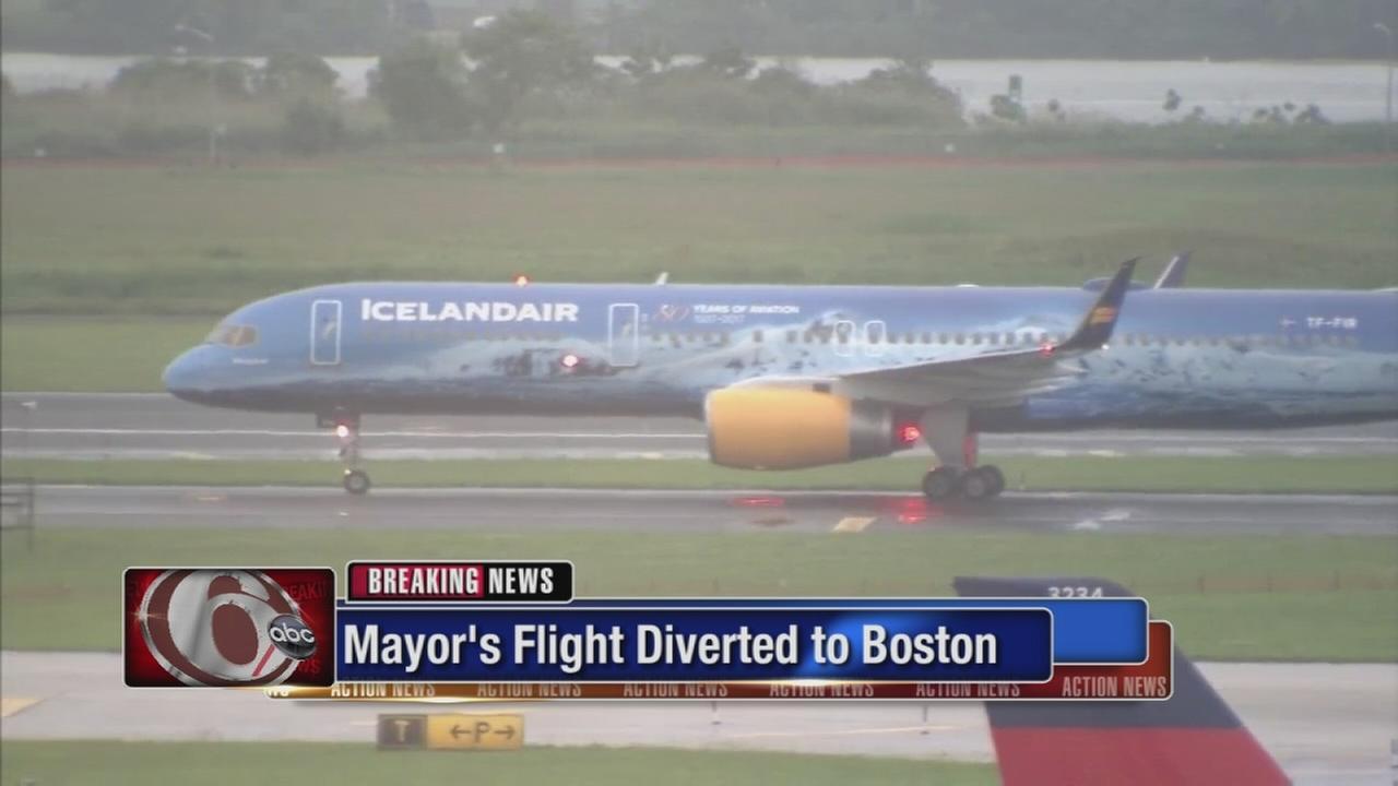 Kenneys Iceland flight diverted