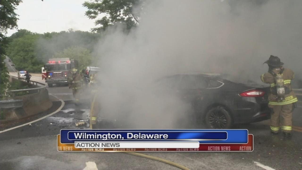 Bystanders rescue victims of fiery crash in Wilmington