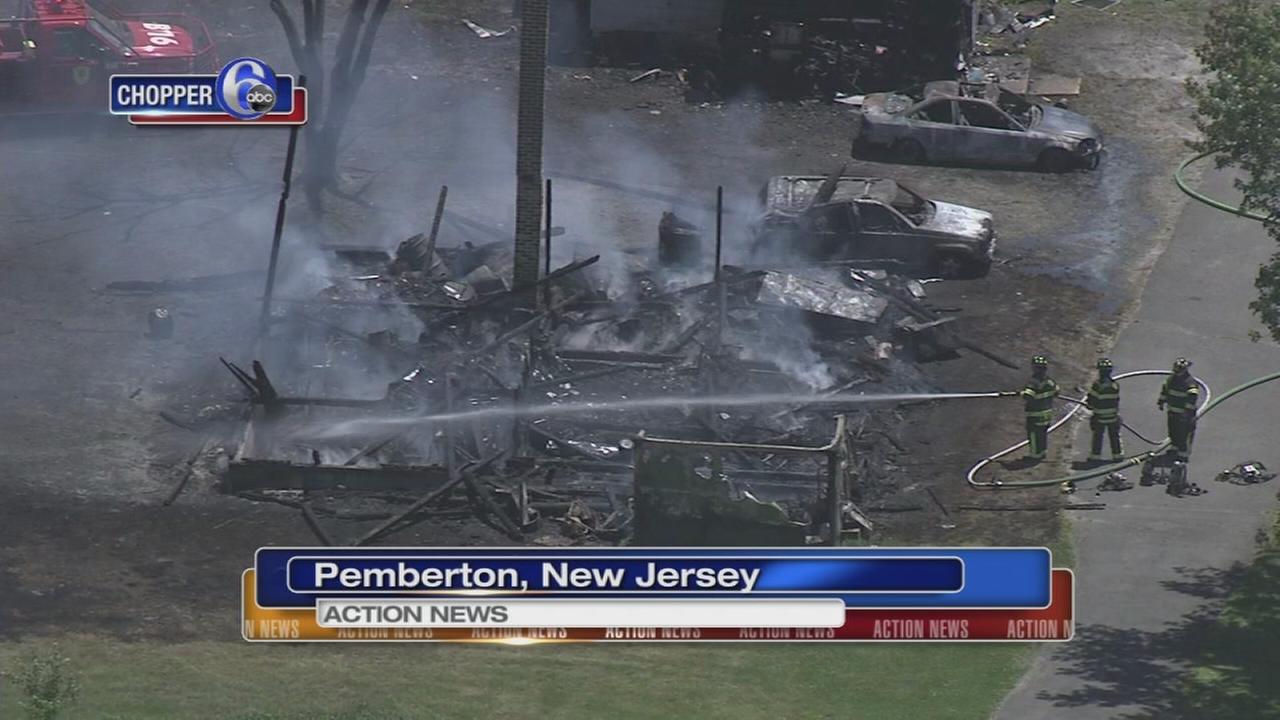 Fire destroys barn, vehicles in Burlington County