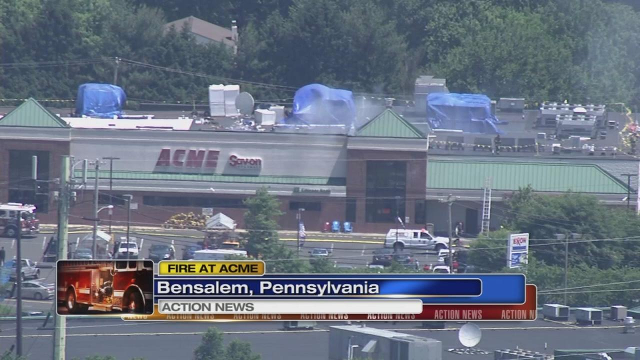 Fire erupts at Acme store in Bensalem, Pa.