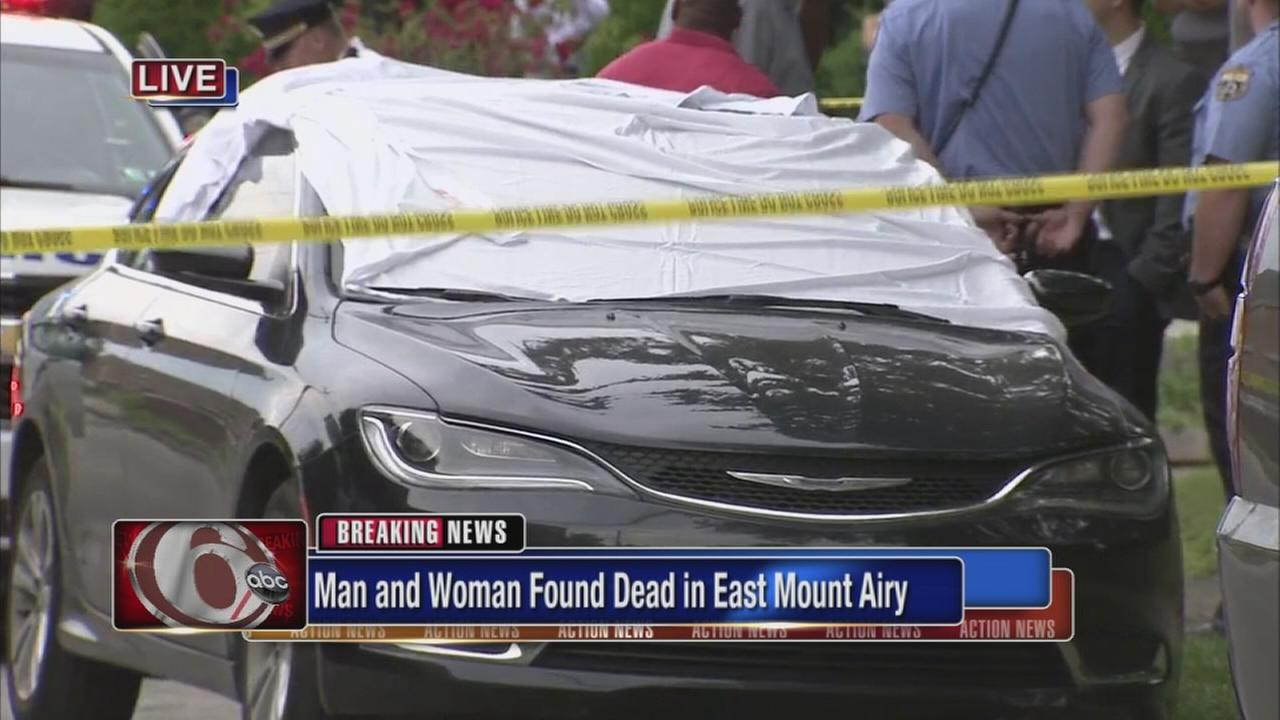 Young man and woman shot, killed inside car in East Mt. Airy