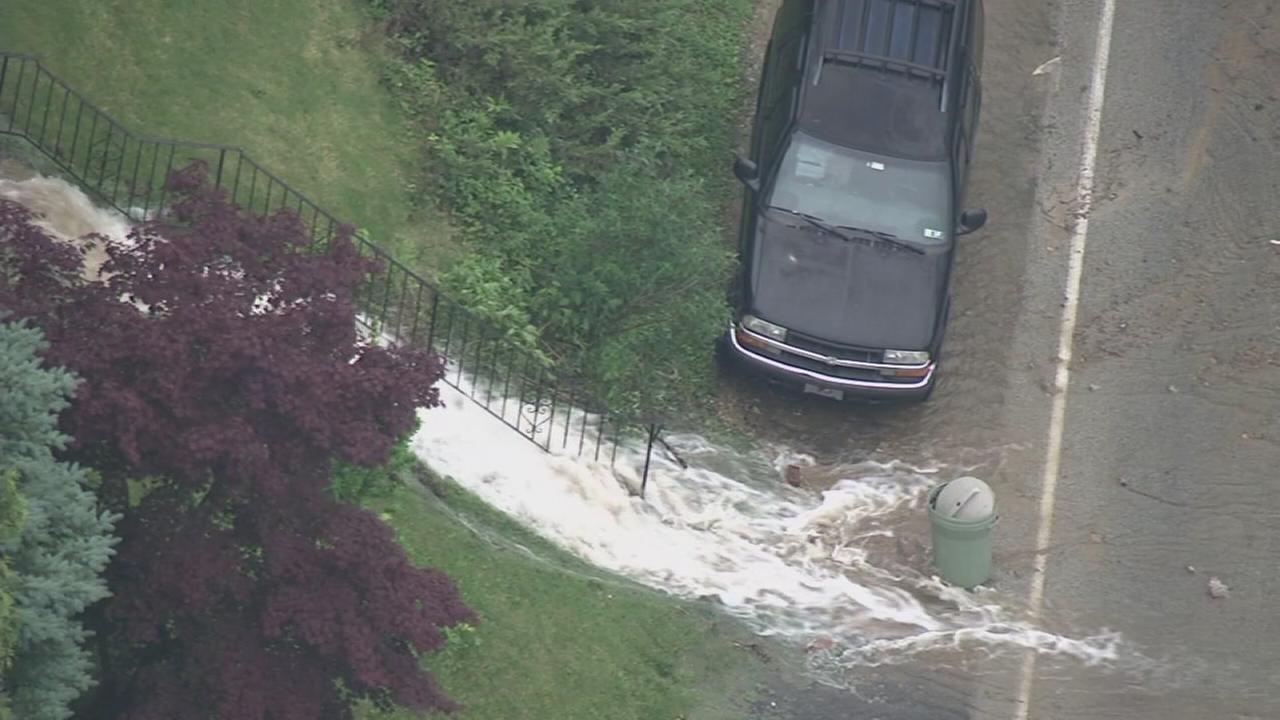 Chopper 6: Water main break in Abington
