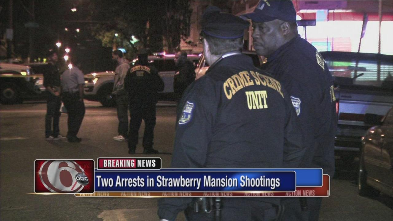 2 arrests in shooting that injured 10 in Strawberry Mansion