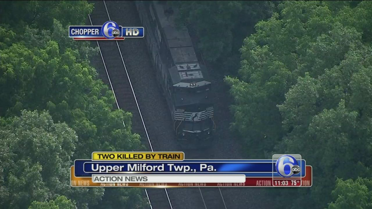 VIDEO: Freight train kills 2 men in Upper Milford Twp.