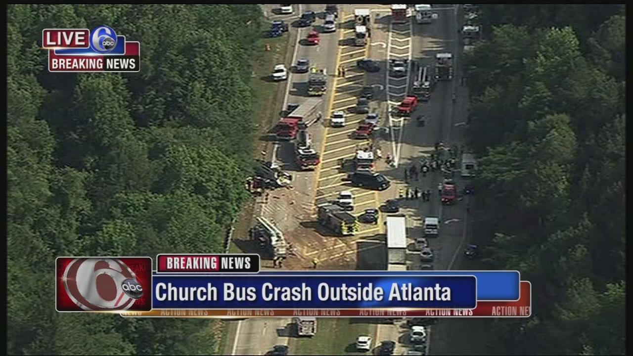 Church bus crashes in Atlanta area; several injured