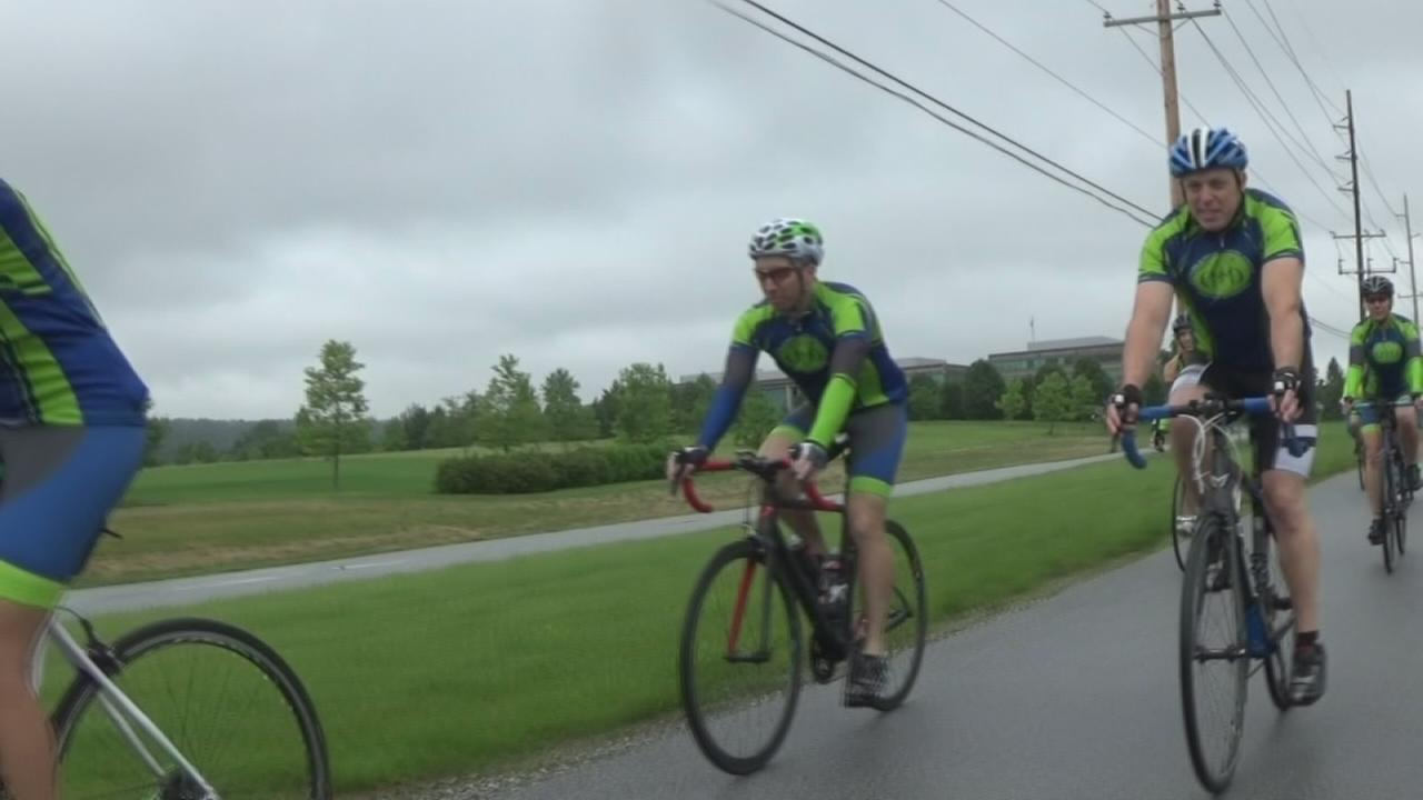 Cyclists ride to raise money for cancer