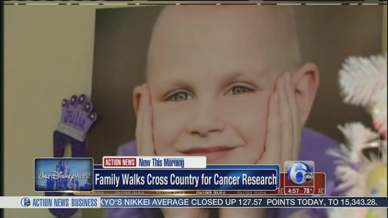 VIDEO: Family walks cross country for cancer research