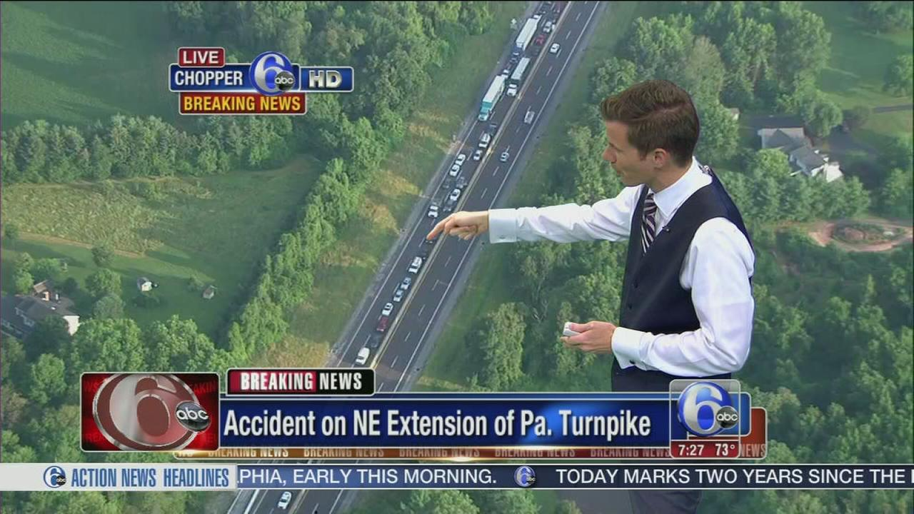 VIDEO: Trucks collide on Pa. Turnpike NE Extension