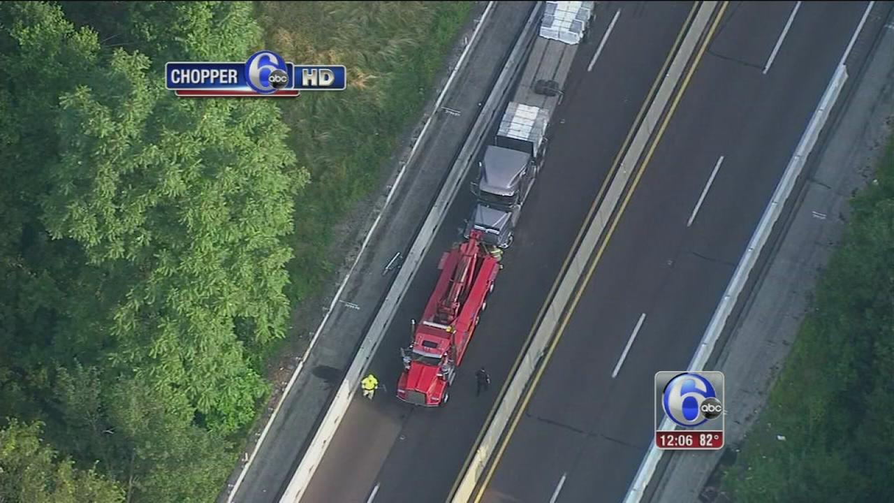 VIDEO: Trucks collide on NE Extension