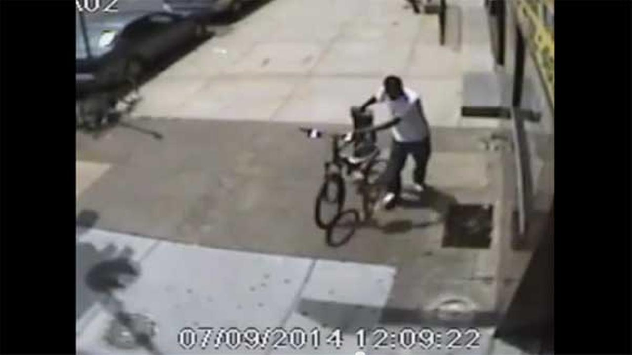 Suspect wanted for stealing a police bicycle in Point Breeze
